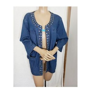AMX Women Denim Jean Jacket size 1X